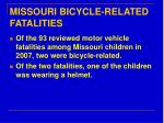 missouri bicycle related fatalities