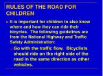 rules of the road for children
