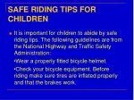 safe riding tips for children
