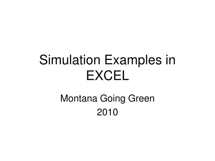 simulation examples in excel n.