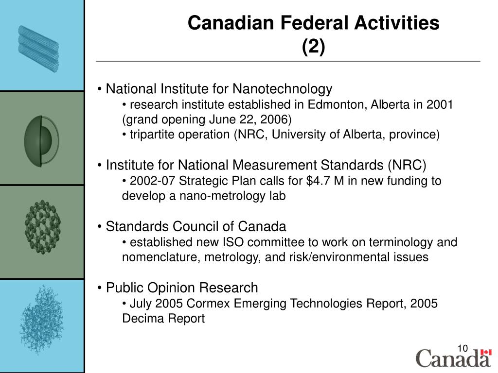 Canadian Federal Activities (2)