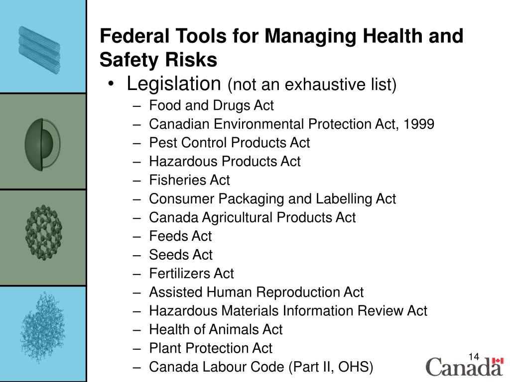 Federal Tools for Managing Health and Safety Risks