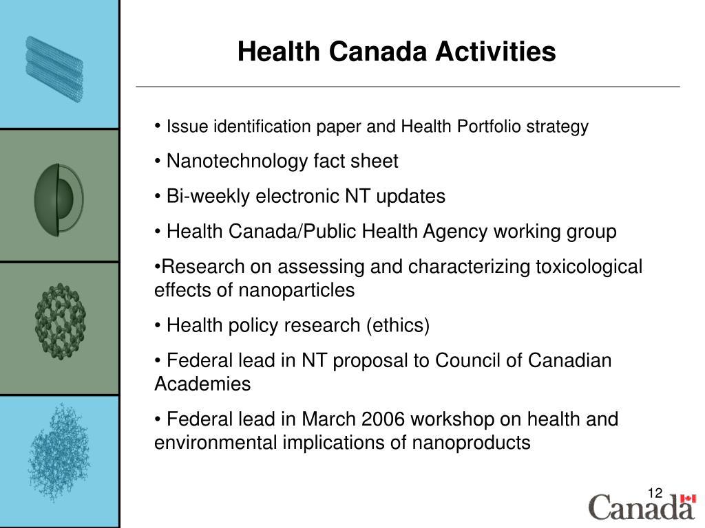 Health Canada Activities