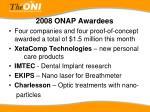 2008 onap awardees