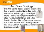 anti stain coatings