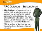 arc outdoors broken arrow