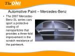 automotive paint mercedes benz