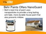 behr paints offers nanoguard