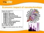 economic impact of nanotechnology