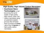 high quality high volume carbon nanotubes