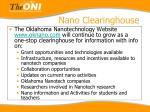nano clearinghouse