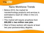 nano workforce trends