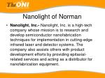 nanolight of norman