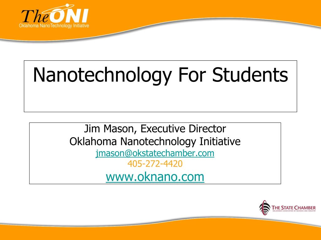 nanotechnology for students l.