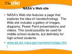 nasa s web site