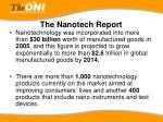 the nanotech report