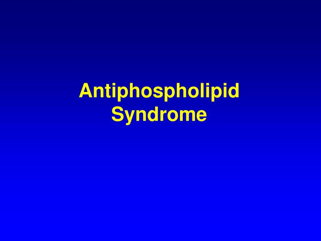 Antiphospholipid