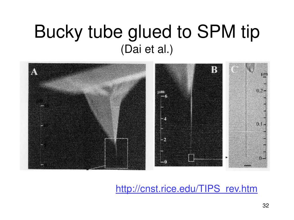 Bucky tube glued to SPM tip