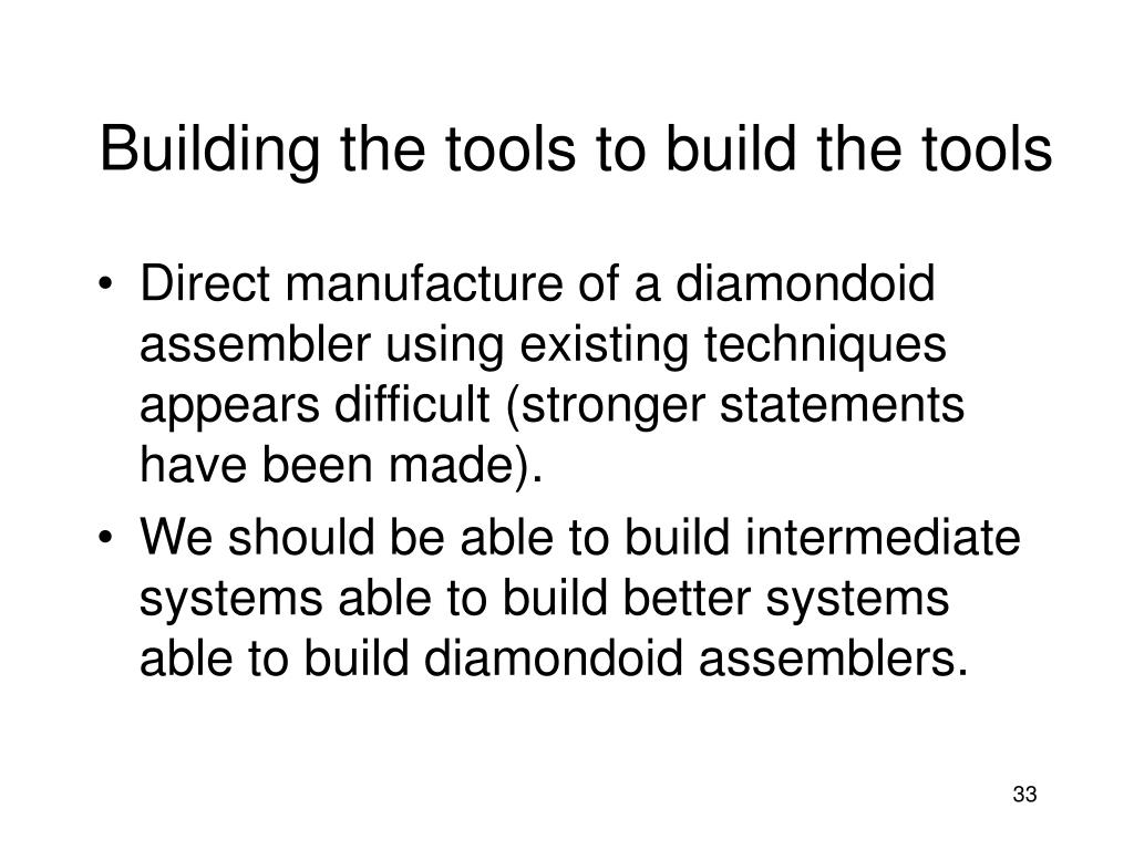 Building the tools to build the tools
