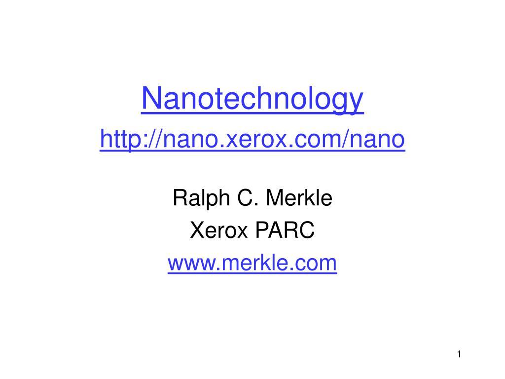 nanotechnology http nano xerox com nano l.