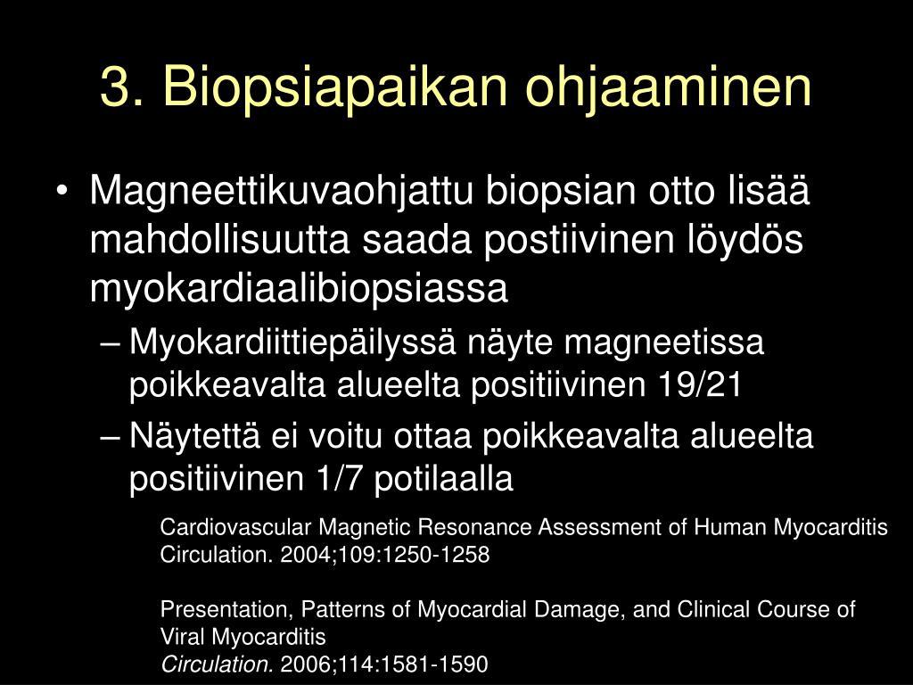 3. Biopsiapaikan ohjaaminen