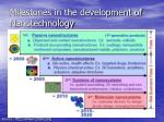 milestones in the development of n anotechnology