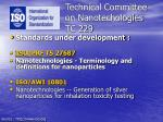 technical committee on nanotechologies tc 229