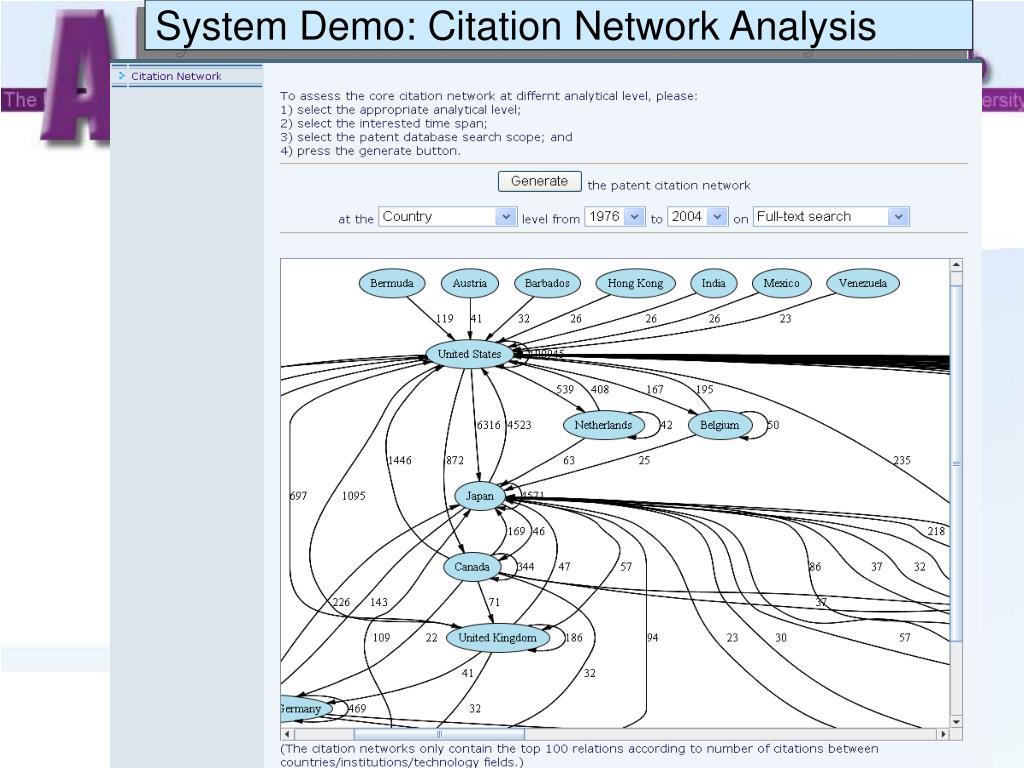System Demo: Citation Network Analysis