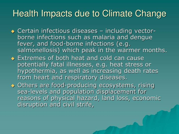 Health Impacts due to Climate Change