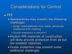 considerations for control44