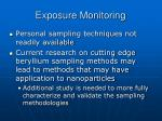 exposure monitoring37
