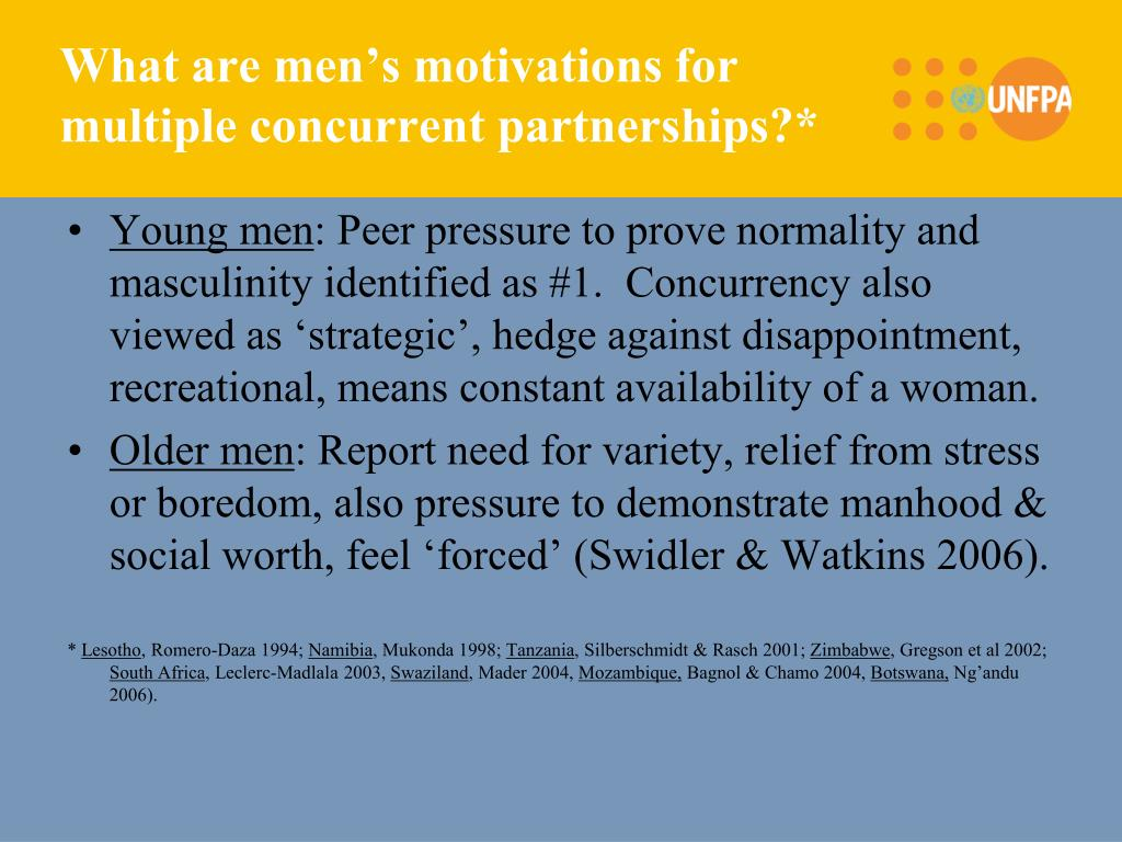 What are men's motivations for