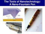 the tools of nanotechnology a nano fountain pen