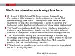 fda forms internal nanotechnology task force