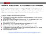 woodrow wilson project on emerging nanotechnologies