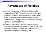 advantages of fieldbus