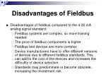 disadvantages of fieldbus