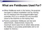 what are fieldbuses used for