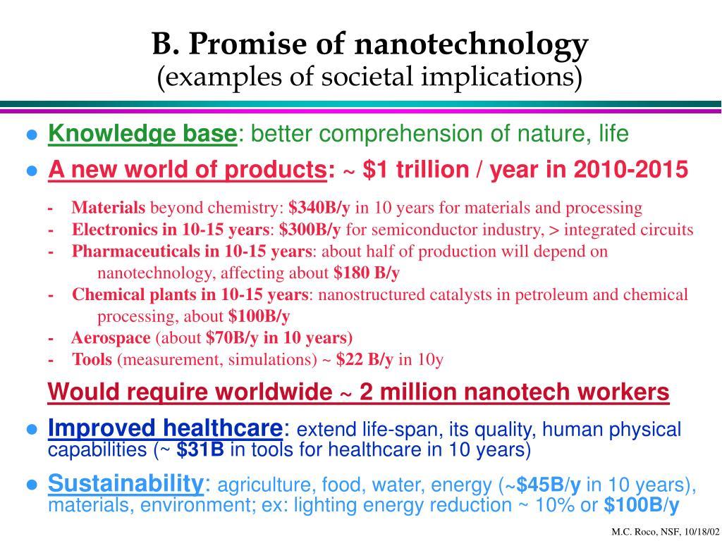 B. Promise of nanotechnology
