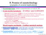 b promise of nanotechnology examples of societal implications