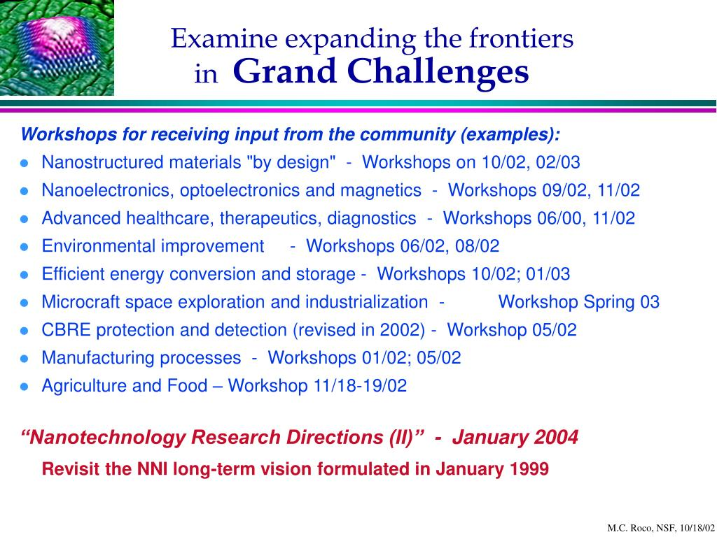 Examine expanding the frontiers