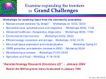 examine expanding the frontiers in grand challenges