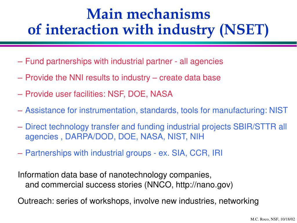 Main mechanisms