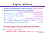 regional alliances