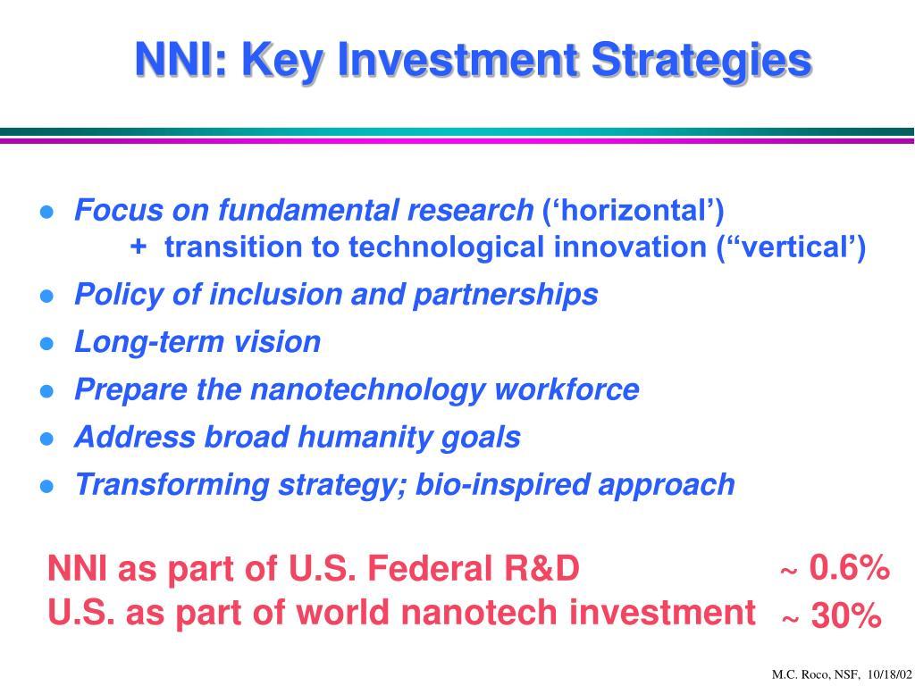 NNI: Key Investment Strategies