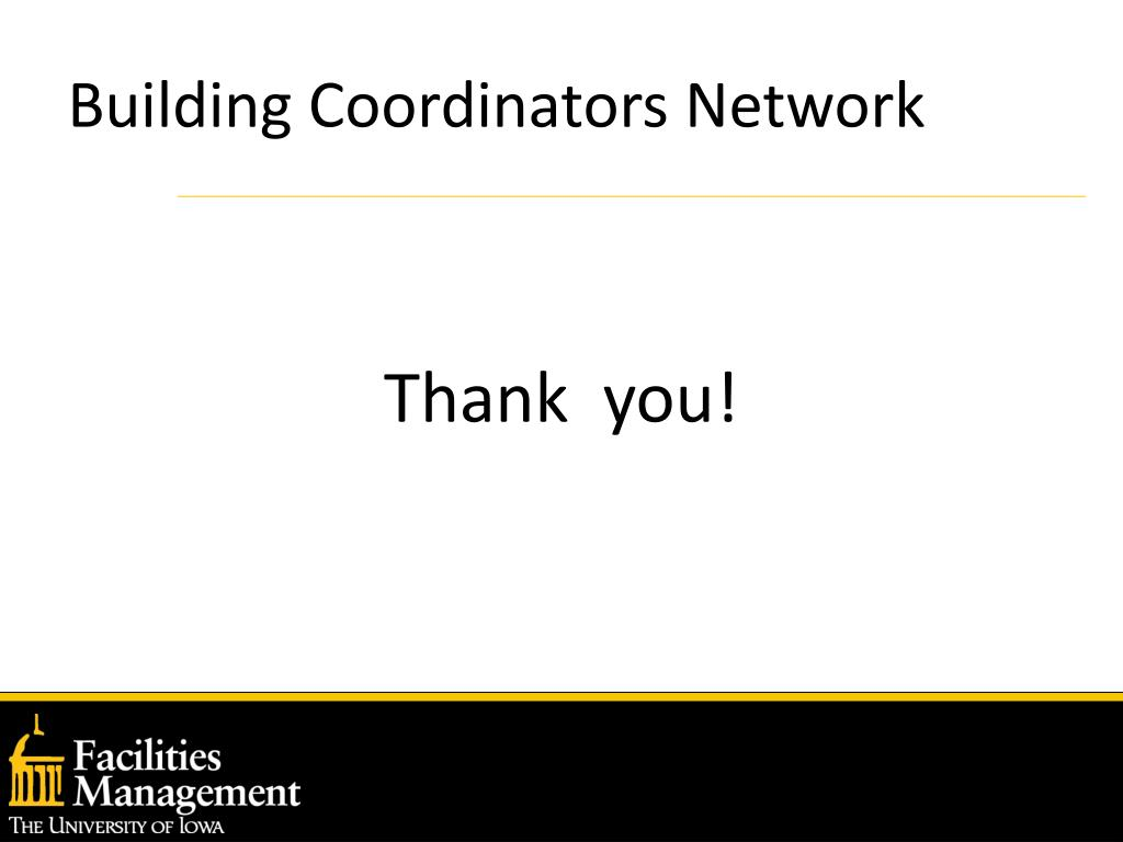 Building Coordinators Network