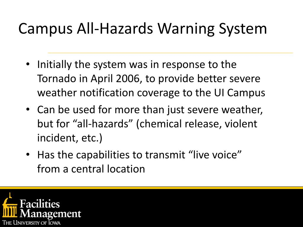 Campus All-Hazards Warning System