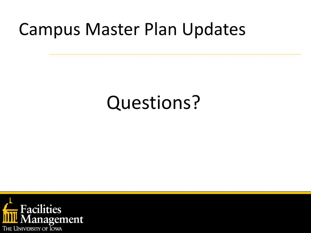 Campus Master Plan Updates