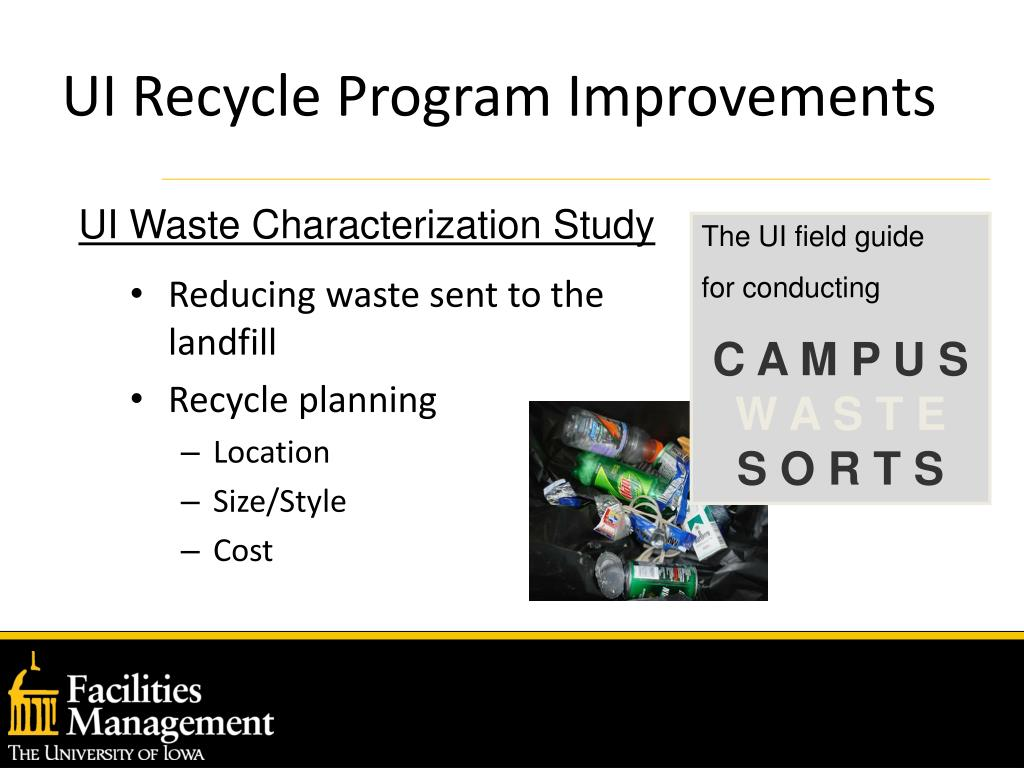 Reducing waste sent to the landfill