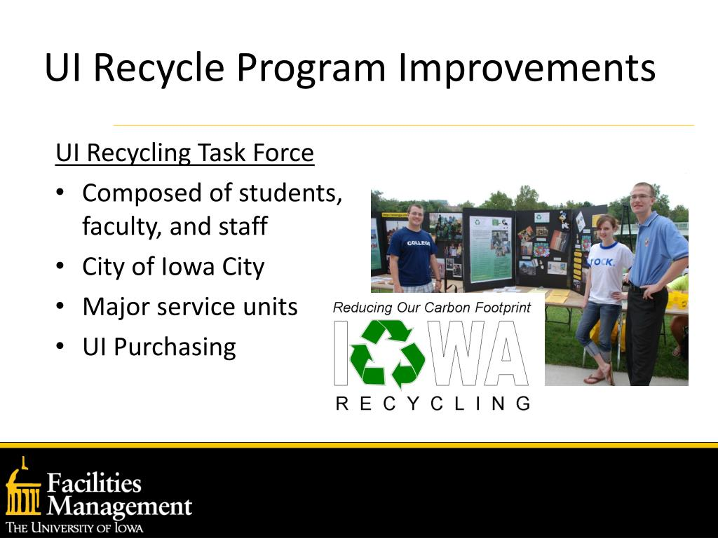 UI Recycle Program Improvements